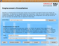 Installation d'Oracle : étape 4