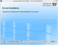 Installation d'Oracle : étape 9